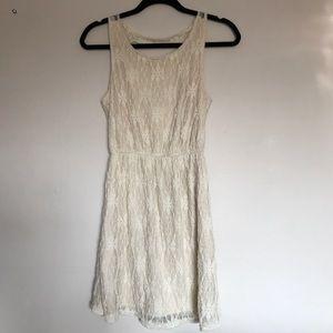 American Rag Juniors Ivory Lace Sleeveless Dress S
